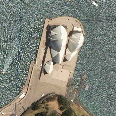 sydney opera house Google Earth and Virgin Eyes